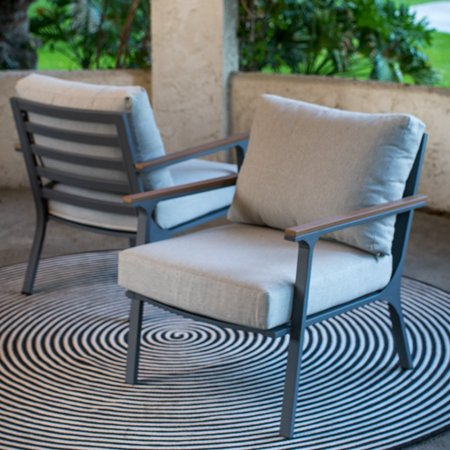 Belham Living Ocean City Aluminum Deep Seating Lounge Chair - Set of 2