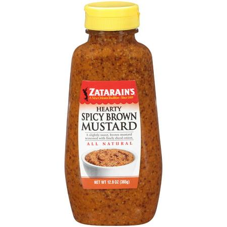 (3 Pack) Zatarain's Mustard Hearty Spicy Brown, 12.9 oz