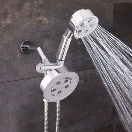 Neo Angle Shower Unit - Speakman Neo Anystream 2-Way Shower Combination, 2.5 GPM, Polished Chrome