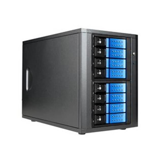 iStarUSA DAGE840DEBL-2MS 8-Bay 3.5 In. Sas And Sata 6.0 Gbps Minisas Trayless Hotswap Enclosures, Black