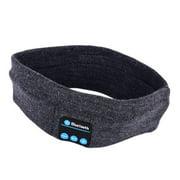 Edal Unisex Warm Headband Wireless Bluetooth Smart Caps Headphone Headset Speaker Mic