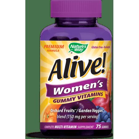 Natures Way Alive! Womens Premium Gummy Multivitamin 75