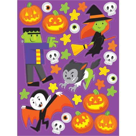 Monster Madness Halloween Stickers, 4 - Halloween Foam Stickers