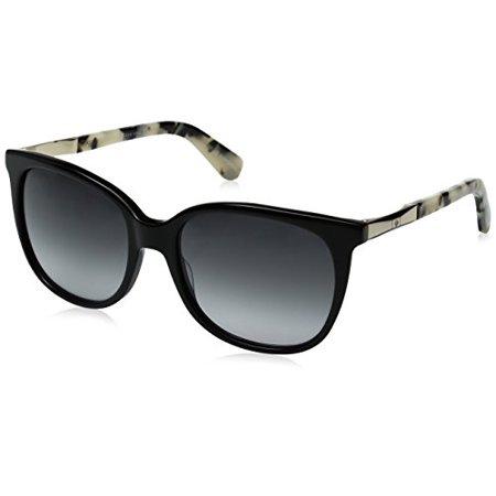 Kate Spade Women's Julieanna Wayfarer Sunglasses, Black Gold/Gray Gradient, 54 mm