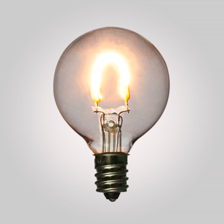 Fantado LED Filament Light Bulbs, G40 Globe Vintage Look, Energy Saving, E12 Base, 0.5 Watt (2-PACK) by PaperLanternStore 15w Energy Saving Bulb