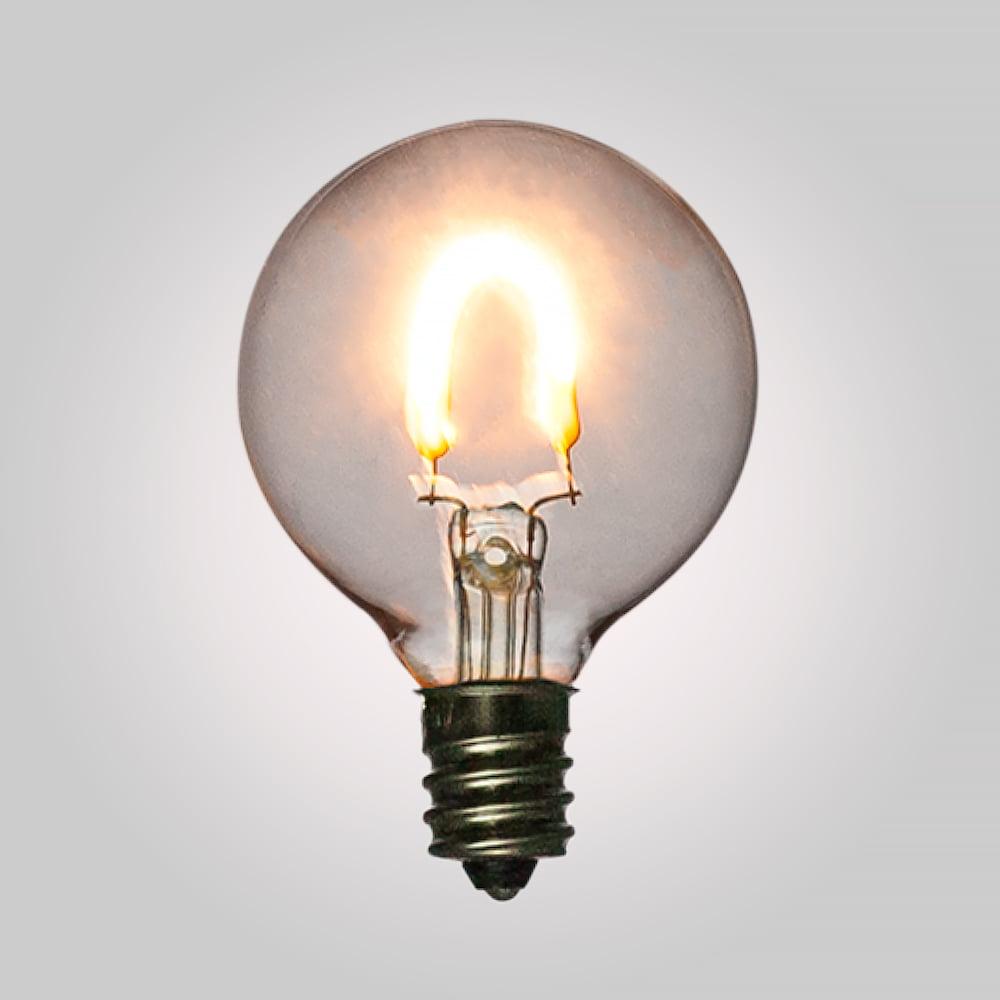 Fantado LED Filament Light Bulbs, G40 Globe Vintage Look, Energy Saving, E12 Base, 0.5 Watt (2-PACK) by PaperLanternStore