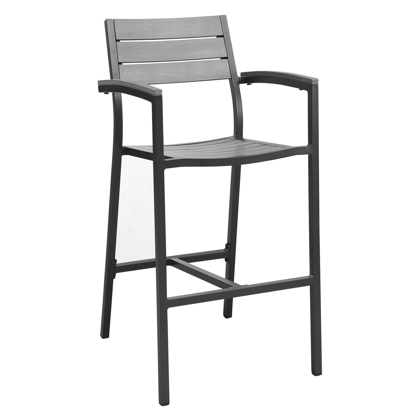 Modway Maine Outdoor Patio Bar Stool, Multiple Colors