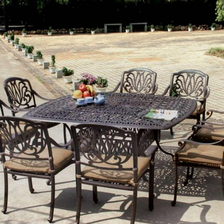 Amazing Elisabeth Cast Aluminum Patio Dining Set Seats 8 Home Interior And Landscaping Eliaenasavecom