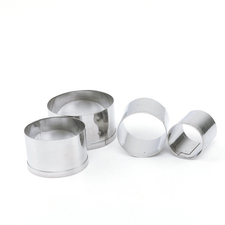 Stainless Steel Semi Circle - 4pcs Stainless Steel Round Circle Cookie Fondant Cake Mould Cutter