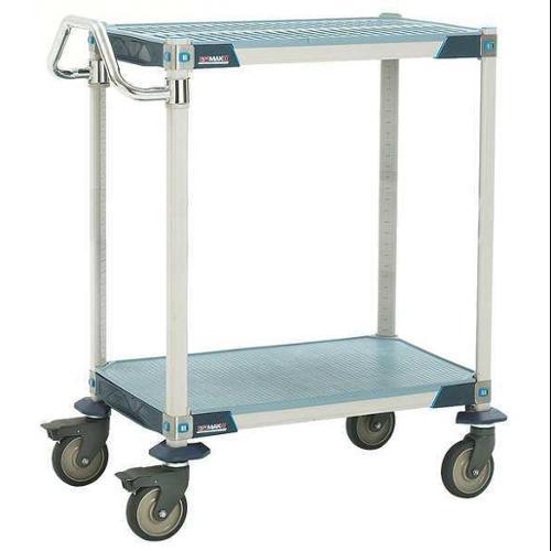 METRO MXUC1830G-25 Utility Cart, Microban, 35x18x39, 2 Shelf
