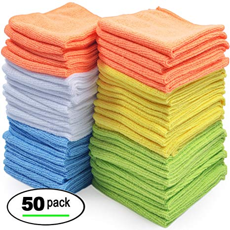 Best Microfiber Cleaning Cloth, Pack of 50 NEW FREE SHIPPING
