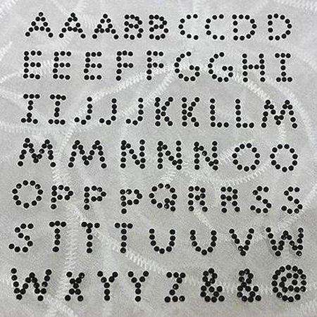 BalsaCircle 240 Black Alphabet Letters Rhinestones Gem Stickers - DIY Scrapbooking Event Party Wedding Favors Decorations Supplies