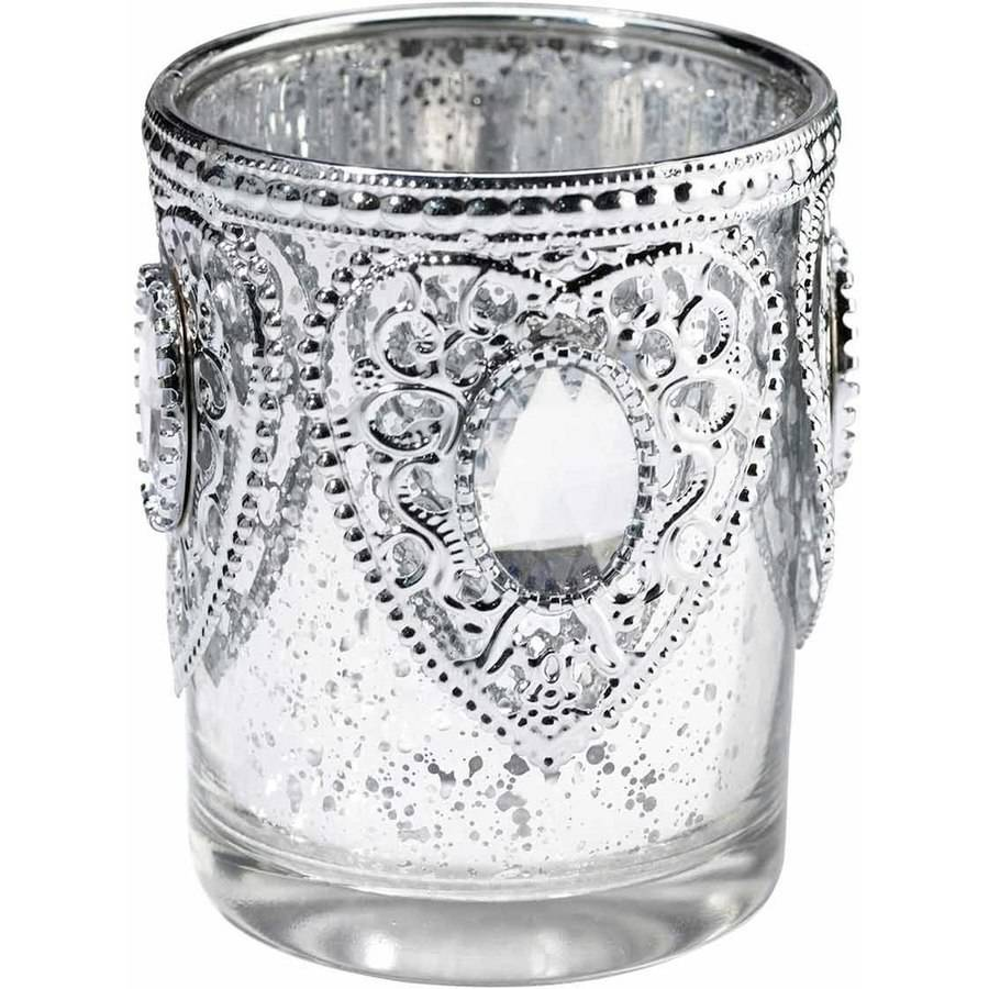 Set of 3 Silver Tealight Cups