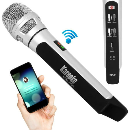 - Pyle PKRK9CR - Bluetooth Karaoke Microphone Speaker System with Wireless FM Radio Station Broadcasting