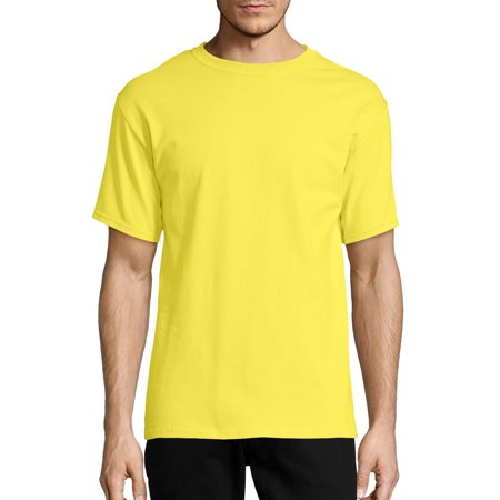 Sunburst Short Sleeve Top - Hanes Men's Tagless Short Sleeve Tee