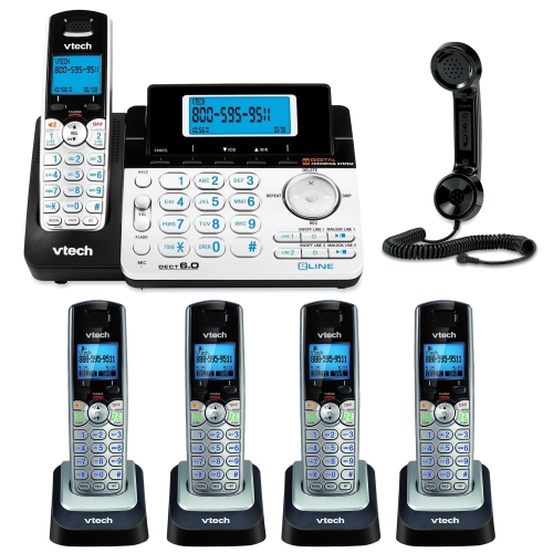 VTech DS6151 2-Line Expandable Cordless Phone with Digital Answering System and Caller ID with Extra Handset Bundle and $10 Focus Gift Card