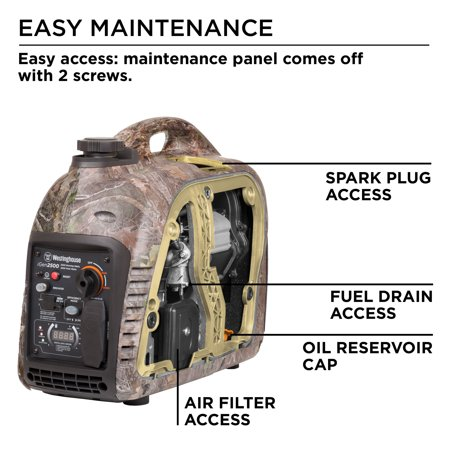 Westinghouse iGen2500 True Timber Camo Gas Powered Portable Inverter  Generator