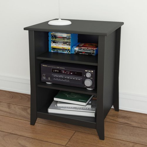 Megalak Finition Tuxedo Stereo Cabinet - Black