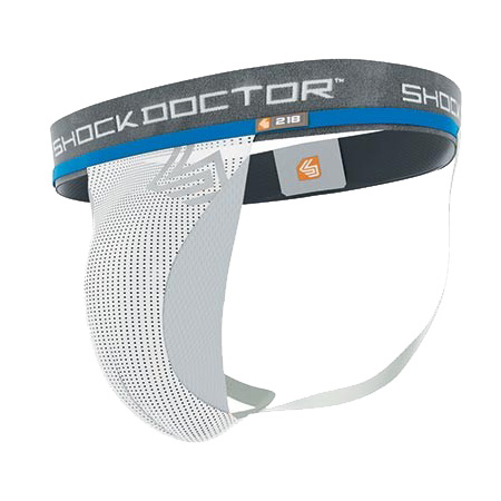 Shock Doctor Supporter w/ Cup Pocket - White