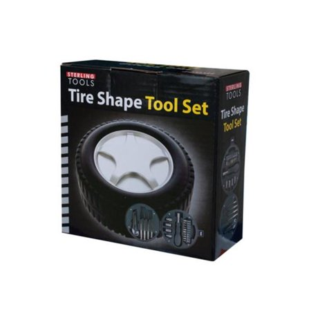 Kole Imports OS982-4 5.25 x 2.25 in. Tire Shape Tool Set - Pack of 4