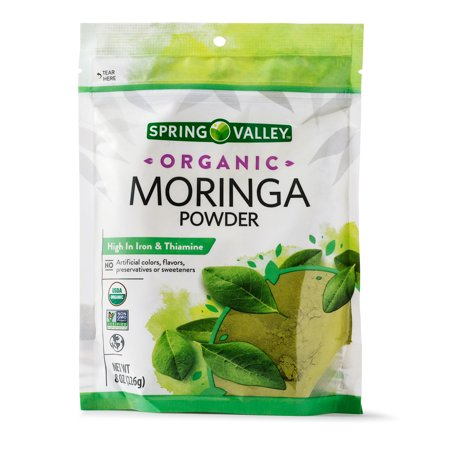 Spring Valley Organic Moringa Powder, 8 Oz (Benefits Of Moringa Leaves In Weight Loss)