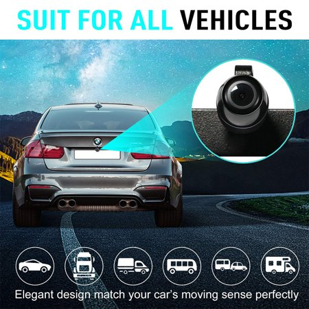 Car Rear View Review Reversing Backup/Front View Camera with 149° Perfect View Waterproof Car Dash Security Sensor Camera for Ford/RV/Trailer/Bus/Trucks Fit All Monitors - image 8 of 8
