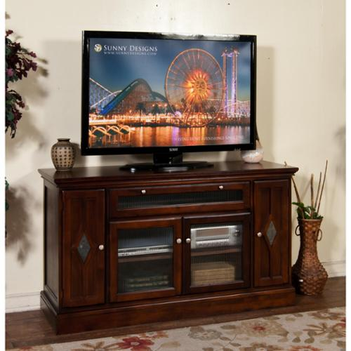 "Cappuccino Counter Height TV Console, 62""W"