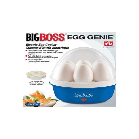 Big Boss Egg Genie Electric Egg Cooker Walmart