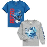 Anthony Rizzo Chicago Cubs Youth Splash Player Graphic 2-Pack T-Shirt Set - Royal/Gray