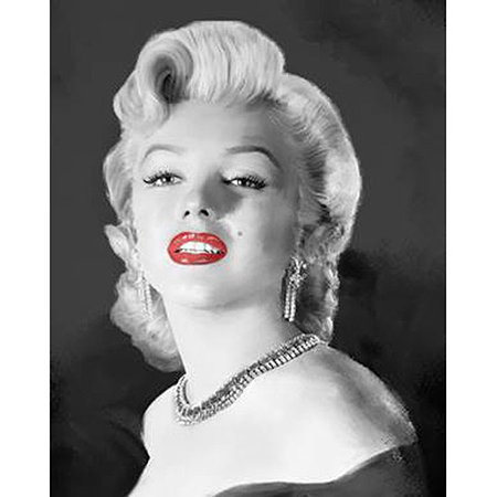 Marilyn Monroe Black And White Diamond Necklace Canvas Wall Art 15
