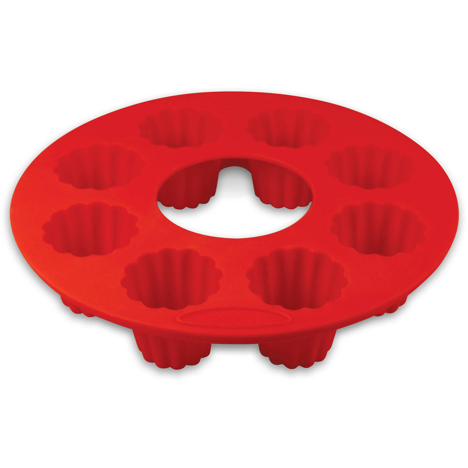 Orka OD130201 8-Mold Silicone Cannele Pan, Set of 2, Red