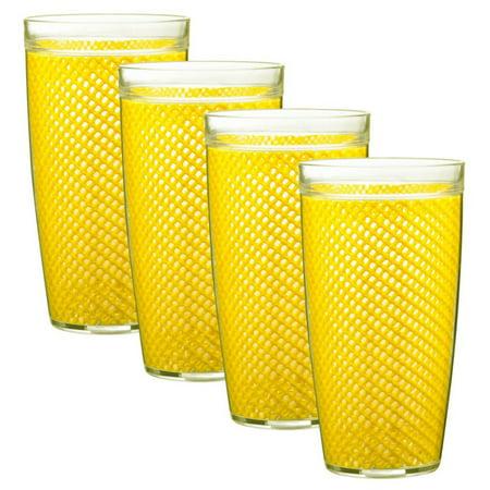 Kraftware Fishnet 24 oz. Doublewall Drinkware - Set of 4