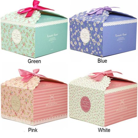 Holiday Treat Boxes (Chilly Gift Boxes, Set of 12 Decorative Treats Boxes, Cake, Cookies, Goodies, Candy and Handmade Bath Bombs Shower Soaps Gift Boxes for Christmas, Birthdays, Holidays, Weddings (Flower)