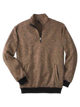 Kingsize Men's Big & Tall 1/4 Zip Sweater Fleece