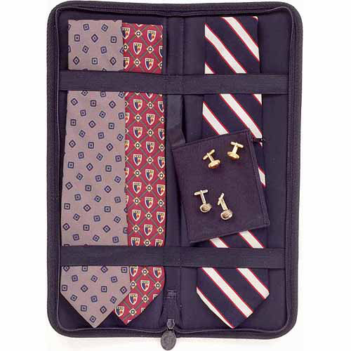 Household Essentials Travel Tie Case, Black
