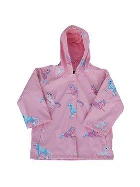 foxfire fox-601-47-10 childrens unicorn raincoat, pink - size 10