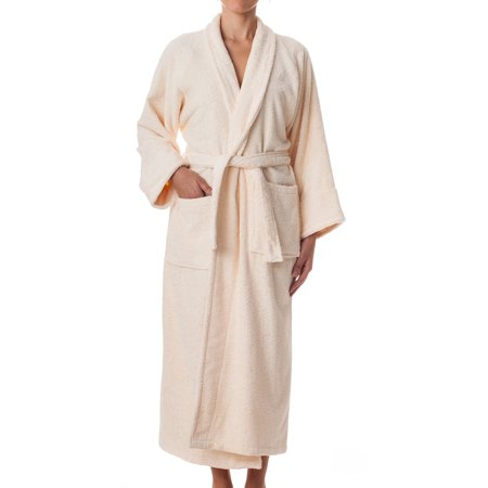 eLuxurySupply - Unisex Terry Cloth Robe - 100% Egyptian Cotton Hotel/Spa