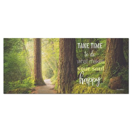 Gango Home Decor Contemporary Soul Happy by Karen Tribett (Printed on Paper); One 20x8in Unframed Paper Poster