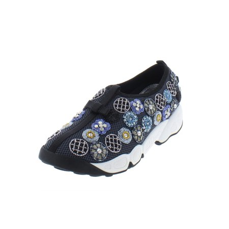 Dior Womens Fusion Beaded Slip On Fashion Sneakers