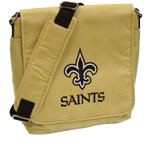 NFL Diaper Bag by Lil Fan, Messenger Style - New Orleans Saints