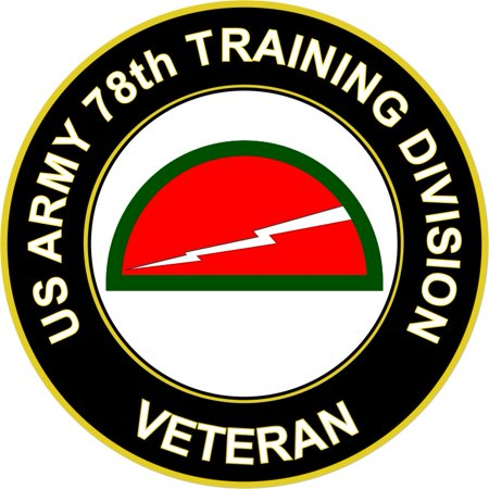 38 Inch US Army 78th Training Division Veteran Sticker Decal