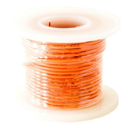 Hook Up Wire 22 Gauge Solid (25' / Orange)