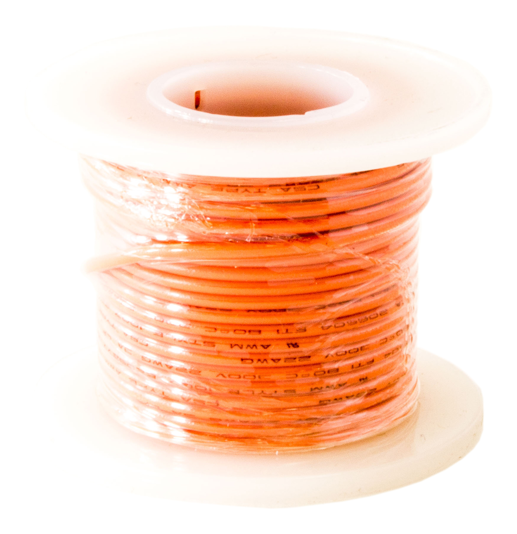 Hook Up Wire 22 Gauge Solid (25' / Orange)
