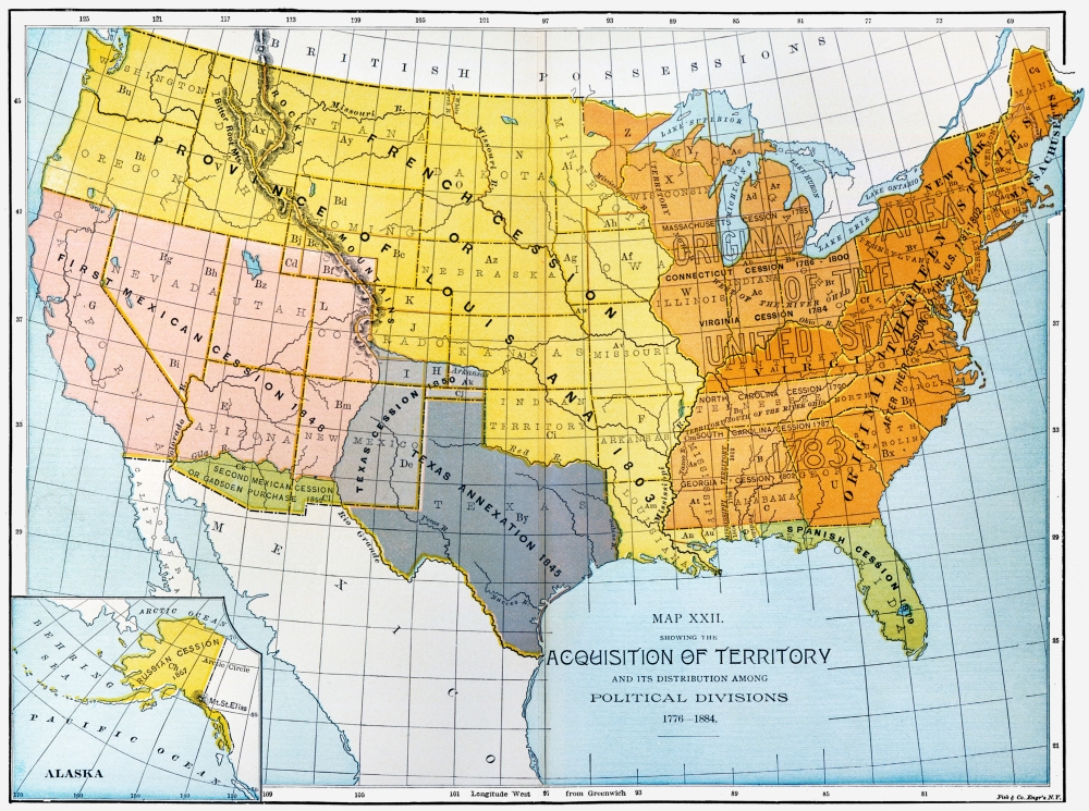 US Map 17761884 Na Map Showing United States Territorial