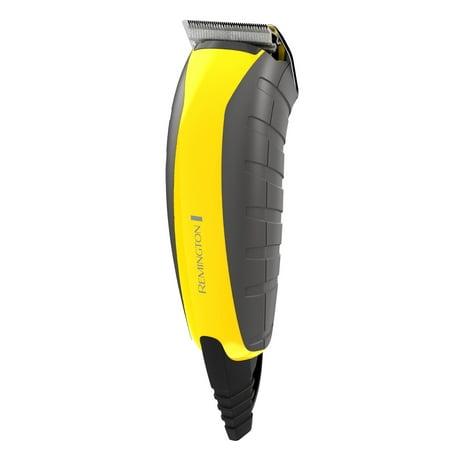 Remington Virtually Indestructible Barber Clipper 15 Piece Haircut Kit Yellow Hc5855