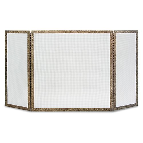 Pilgrim Hearth Bay Branch 3 Panel Fireplace Screen