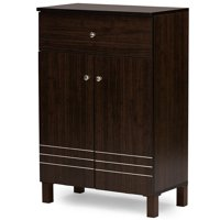Baxton Studio Felda Dark Brown Modern Shoe Cabinet