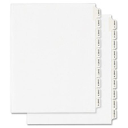 Dividers, Exhibit 20, Side Tab, 8.5 in. x 11 in., 25-PK, (8.5 White Dividers)