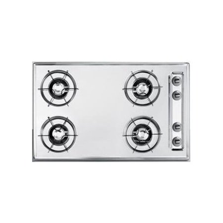 ZNL053 30 Built In Gas Cooktop with 4 Open Burners  36000 Total BTU  Recessed Top  Porcelain Enameled Steel Grates and Electronic Spark Ignition  in - Open Burner Section