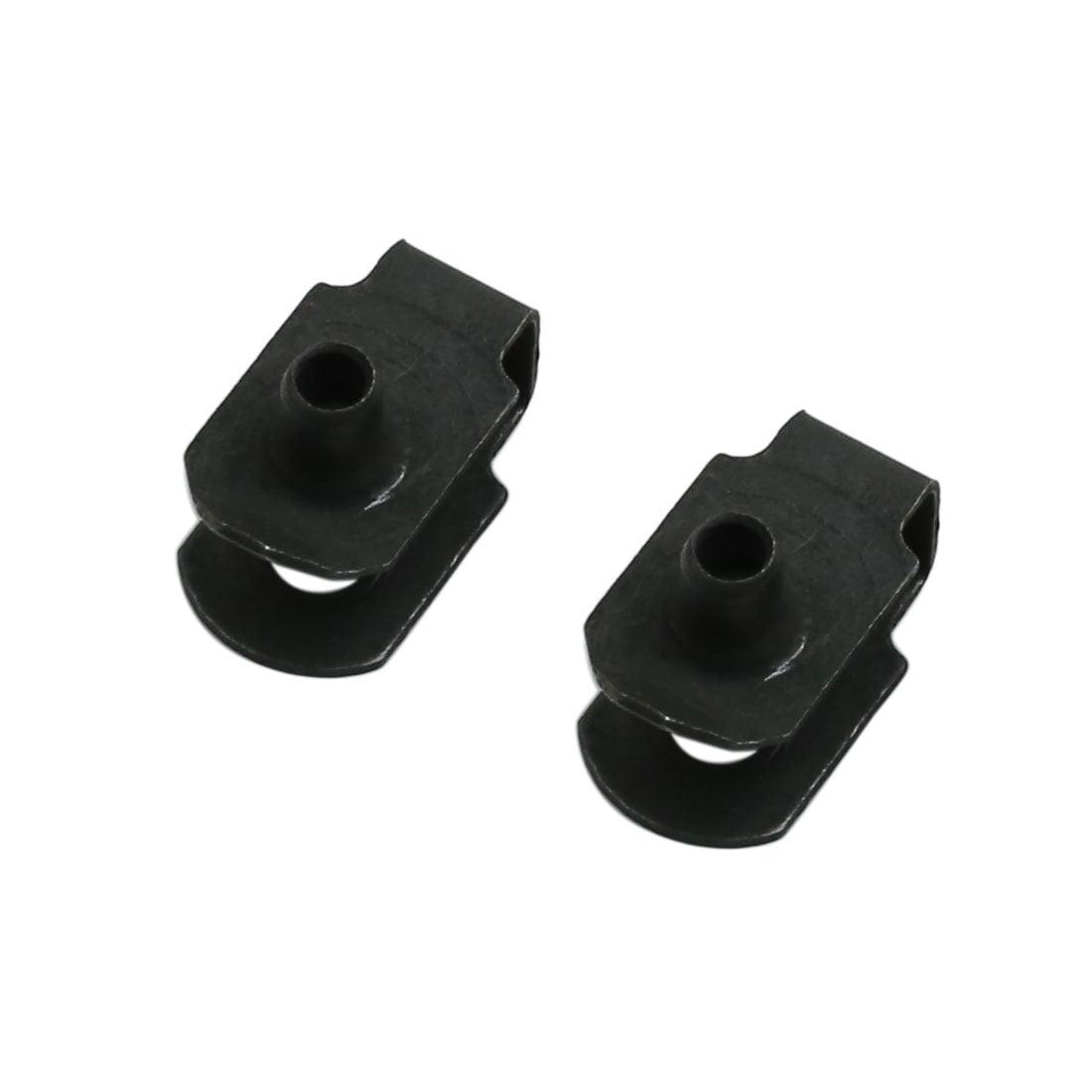 2pcs Black Metal Screws Car Bumper Fender Trim Panel Fixed Rivets Clips - image 3 de 3